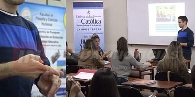"""UCI, PRIMERA UNIVERSIDAD DE ITAPÚA EN INCORPORAR """"LENGUAJE DE SEÑAS"""" EN CÁTEDRA UNIVERSITARIA"""