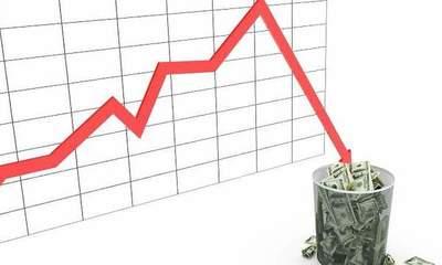 Inversiones cayeron casi 3%