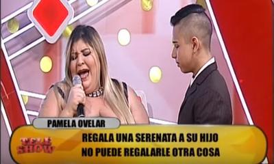 """Pamelita y el 15 años de su hijo en """"TeleShow"""""""