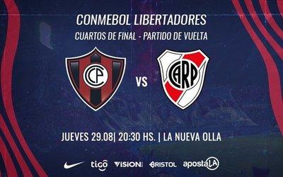 Cerro Porteño con la obligación de remontar el resultado adverso ante River Plate