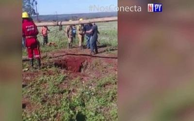 Sexagenario cayó a profundo pozo y fue rescatado luego de dos días