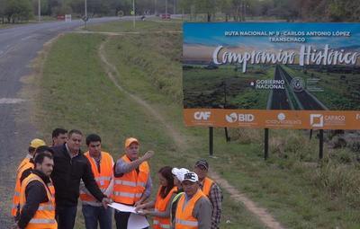 Inicia labores para duplicación de 64 km de la Ruta PY09