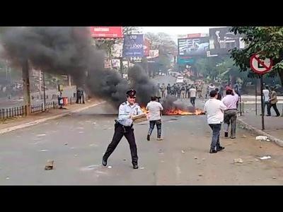 Heridos tras enfrentamiento entre paseros y policías en Ciudad del Este