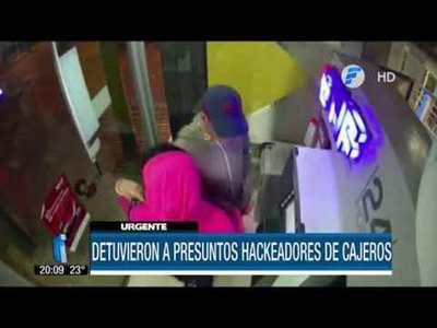 Detuvieron a presuntos hackeadores de cajeros