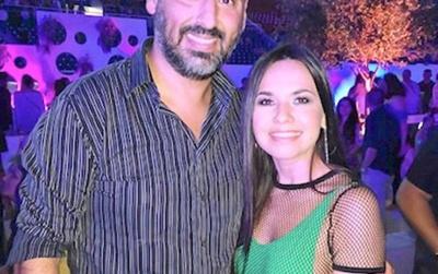 Meli y su foto con el presi de Cerro Porteño