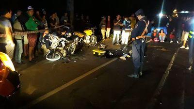Choque frontal entre motociclistas deja un fallecido en Ypacaraí