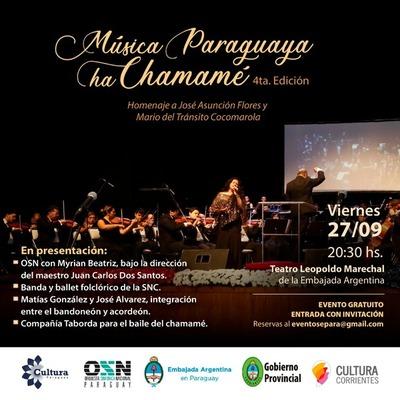 Música Paraguaya ha Chamamé en su 4ta edición en el Teatro de la embajada Argentina