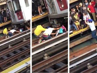 Se tiró con su hija frente a un tren, pero la nena sobrevivió