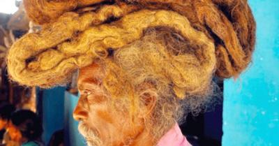 Hombre pasa más de 40 años con el pelo sucio