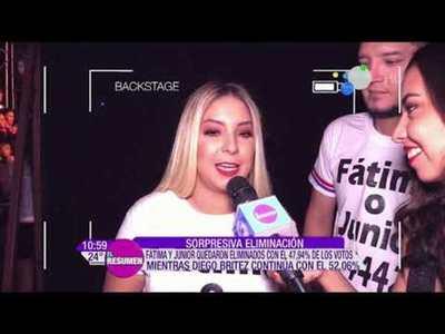 Fátima y Junior eliminados del Baila 2019 y participantes que renuncian de la competencia