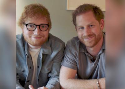 El profundo mensaje de Ed Sheeran y el príncipe Harry en un video