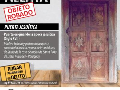 Ocho policías estaban de guardia cuando se robó patrimonio cultural jesuítico