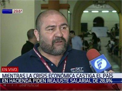 Amenaza de huelga en Hacienda para reajuste salarial