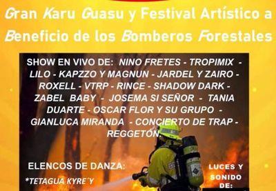 Karu Guasu y festival a beneficio de bomberos