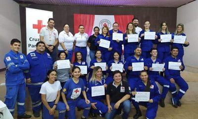 Egresan nuevos socorristas de la Cruz Roja