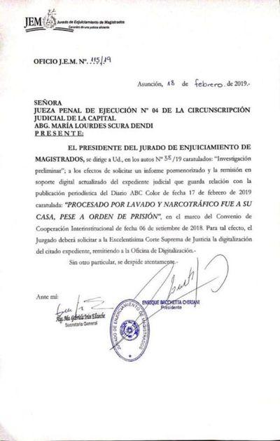 Jurado de Enjuiciamiento inicia  investigación contra Lourdes Scura