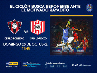 Cerro pretende reponerse ante San Lorenzo
