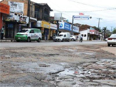 Cruces por zonas urbanas de ruta PY01 están rotos