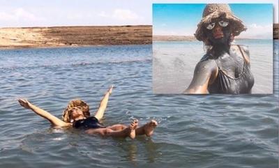 """HOY / Como Jesucristo, Karina Doldán se bautizó en el Río Jordán: """"Para recibir la revelación de lo alto"""""""