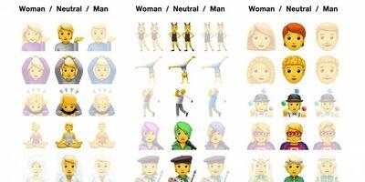 Apple incluye emojis de género neutro en actualización de sistema operativo