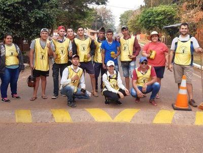 Jóvenes se unen para hermosear el distrito de  Villa del Rosario