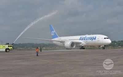 Air Europa presentó nueva tecnología para vuelos Asunción-Madrid