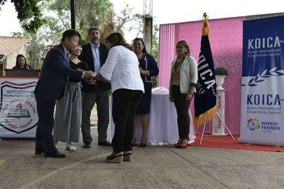Koica entrega materiales didácticos a escuelas de Ypacaraí