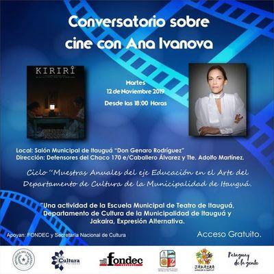Conversatorio sobre cine en Itauguá