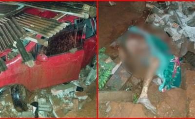 Mató a un hombre, atropelló vivienda y abandonó su vehículo