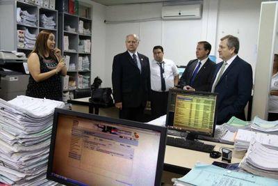 Ministros supervisan actividad en juzgados