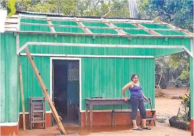 Temporal daña viviendas y cultivos
