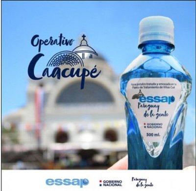 Essap repartirá  botellas de agua a peregrinos