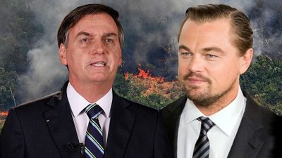 Bolsonaro acusó a Leonardo DiCaprio de los incendios en el Amazonas