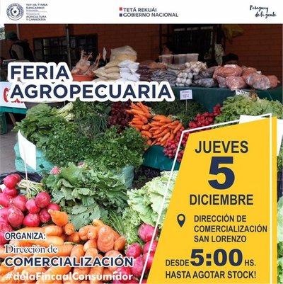 Feria agropecuaria en San Lorenzo