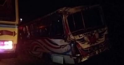 Choque de buses deja como saldo 10 heridos