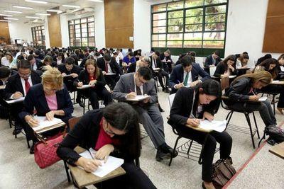 Examen de concurso vía plataforma digital