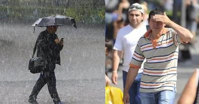 Lluvia por la mañana y calor por la tarde