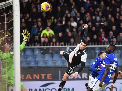 Juventus queda como lider provisorio tras vencer a la Sampdoria