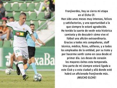 Danilo Ortiz deja el Elche