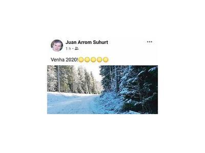 Arrom celebra desde la nieve otro año prófugo de la Justicia