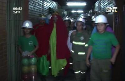 Los Reyes Magos llegaron al Hospital de Clínicas