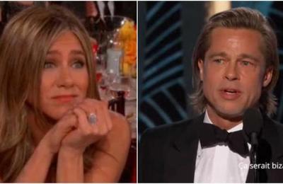La emocionada reacción de Jeniffer Aniston cuando Brad Pitt ganó su Globo de Oro