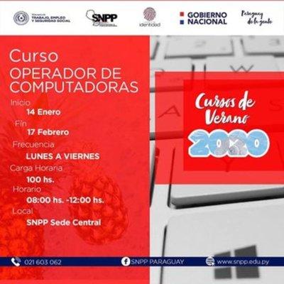 SNPP ofrece cursos gratuitos de capacitación