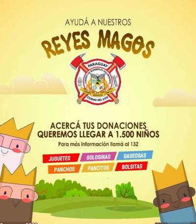 Bomberos de CDE preparan festejo por el día de Reyes Magos