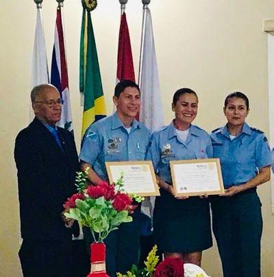 Policías Militares Proerd homenajeados por el Rotary Frontera