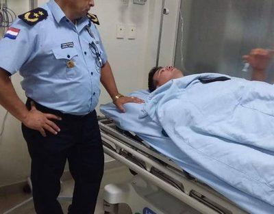 Agente de Lince lesionado tras accidente en Minga Guazú