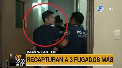 Recapturan a tres fugados del PCC en Concepción