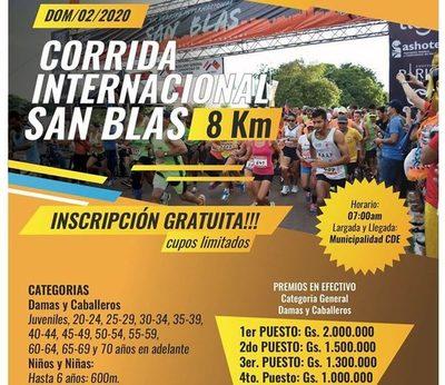 """Corrida Internacional San Blas"" será este domingo"