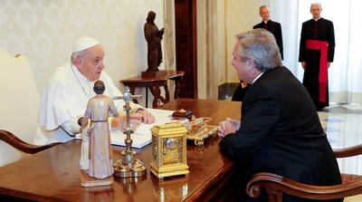 Alberto Fernández se reunió a solas con el Papa durante 44 minutos en el Vaticano