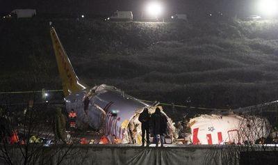 Tres muertos dejó el accidente aéreo en Estambul
